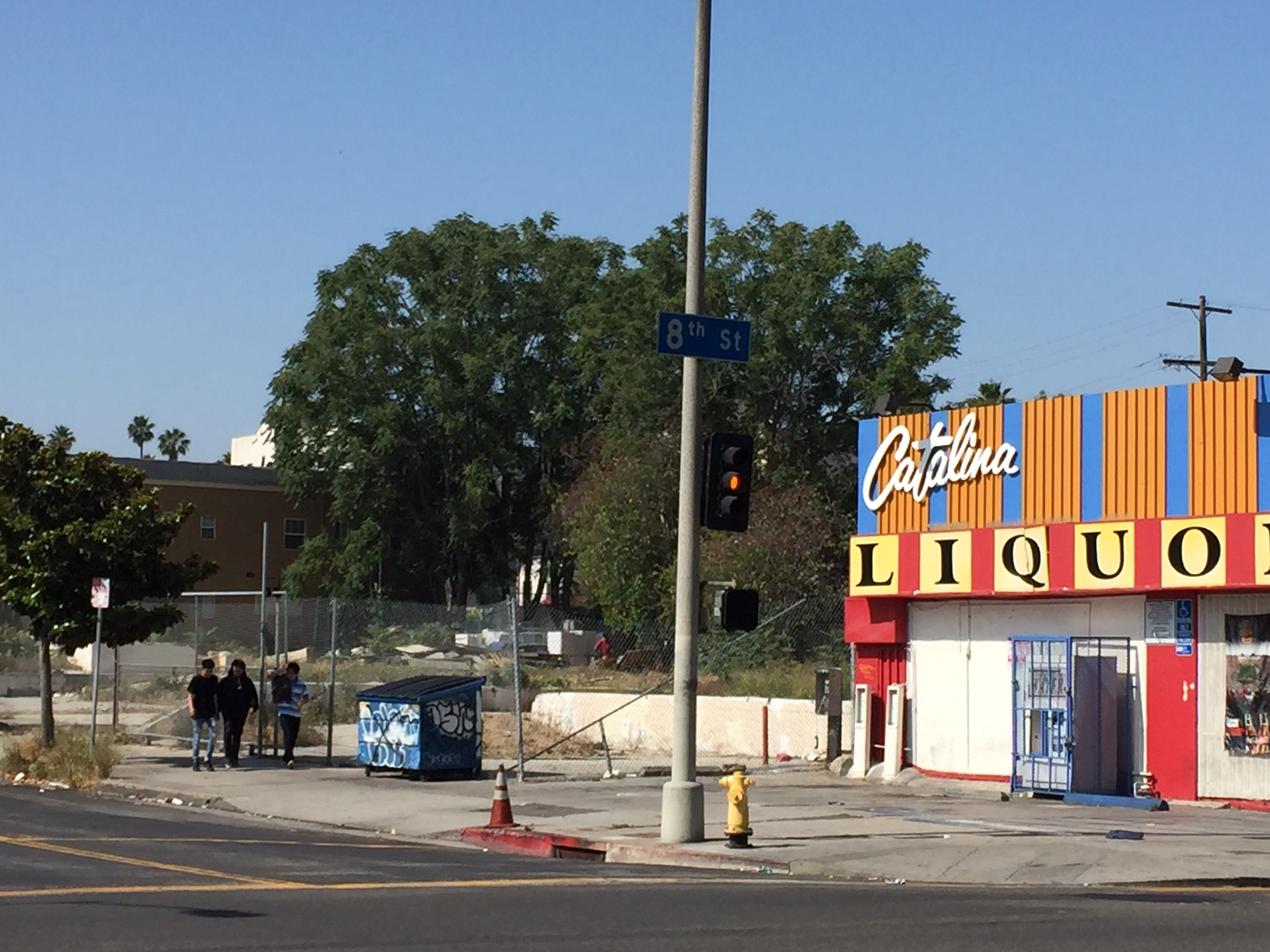 """The site for the city approved 27-story """"Catalina Tower"""" at the corner of 8th Street and S. Catalina Street."""