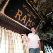 A team hangout since their first stint in Los Angeles, Fairfax bar Tom Bergin's still has a piece of original Rams history.