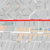 6th Street will be closed between Fairfax Avenue and Hauser Boulevard this weekend and between Hauser Boulevard and La Brea Avenue next weekend.